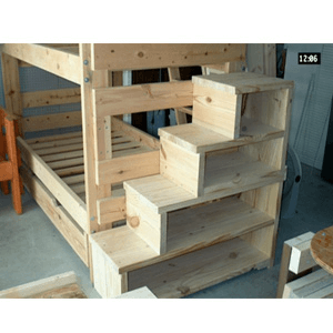 Solid Wood Custom Made Adult Stairs For Bunk Or Loft Bed (300 Lbs Weight Capacity) (USMFS)