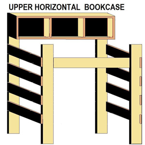 Upper Horizontal Bookcase