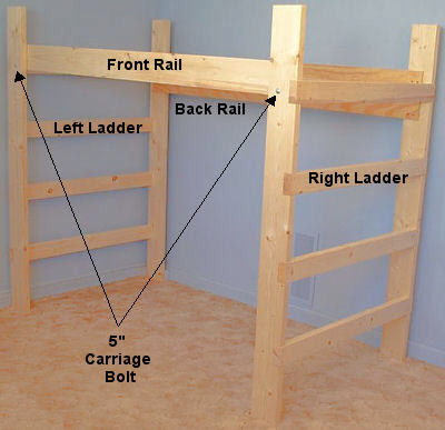 Wooden College Loft Bed Assembly Instructions Elitedecore Com